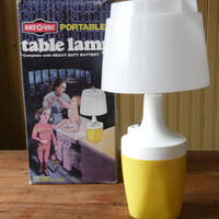 FREE SHIPPING - Ray-O-Vac Lamp/Camping Light/Vintage Table Lamp/Portable Lamp/Glamping/Lantern