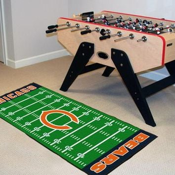 FANMATS Chicago Bears Field Runner Mat Area Rug, Man Cave, Bar, Game Room
