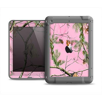 The Pink Real Camouflage Apple iPad Air LifeProof Fre Case Skin Set