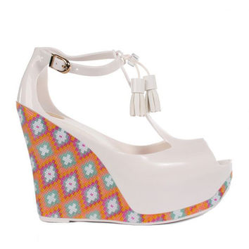melissa - peace ii wedges (white) - Melissa | 80's Purple