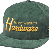 Diamond Hardware Hat Adjustible Green/ Gold Snapback