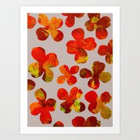 Dogwood_Collage Art Print by Garima Dhawan | Society6