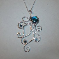 Octopus Necklace in Abalone Shell and Sterling Silver | FantaSea Jewelry STX