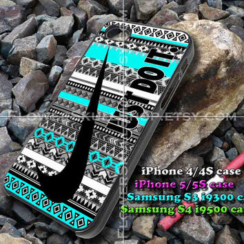 just do it nebula aztec mint iphone case, iphone 4/4S, iphone 5/5S, iphone 5c, samsung s3 i9300, samsung s4 i9500, design accesories