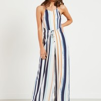 Palin Jumpsuit - White Stripe
