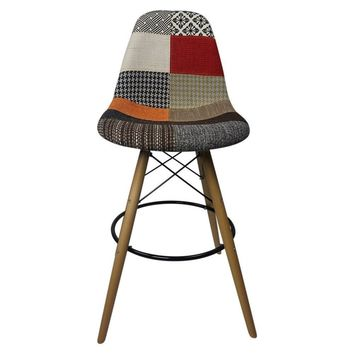DSW Patchwork G - Bar Eiffel Chair Stool - Reproduction | GFURN