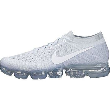 Nike Men's Air VaporMax Flyknit Running Shoe PURE PLATINUM/WHITE-WOLF GREY 12.5