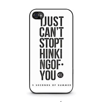 5 seconds of summer 6 5sos iphone 4 4s case cover  number 1