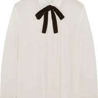 Maje - Gustin pussy-bow muslin blouse
