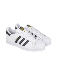 The Superstar Sneaker in White and Black
