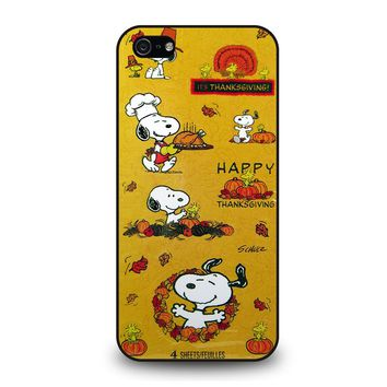 SNOOPY THE PEANUTS THANKSGIVING iPhone 5 / 5S / SE Case