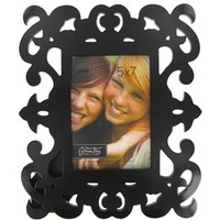 "5"" x 7"" Black Decorative Scroll Picture Frame 