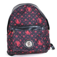 Ex+ Versus Versace Milano Backpack/Bag black in lion head pattern