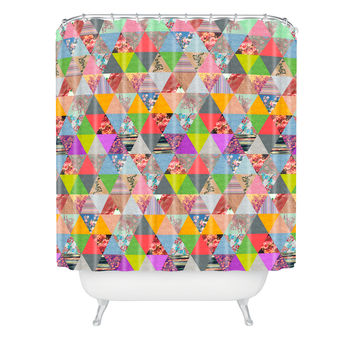 Bianca Green Lost In Pyramid Shower Curtain