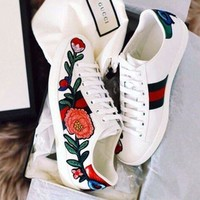 :Gucci:Trending Fashion Casual Sports Shoes Flower