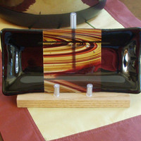 Fused Glass Hostess Gift, Valet, Sushi, Candy or Nut Dish,