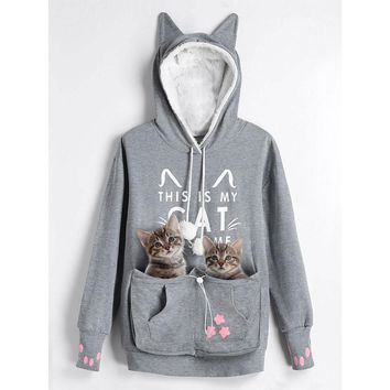 This Is My Cat Costume - Women Cat Ear Hoodie