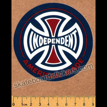 Independent Trucks Skateboard Sticker - American Made - Blue