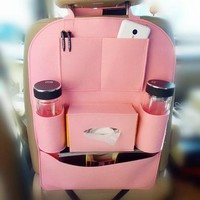 Pink Girly Back Seat Organizer