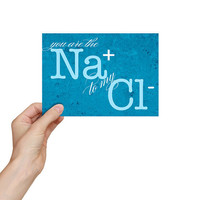 Valentine's Day Card Science Geekery Gift - Funny Science Valentine / Love Card SNS