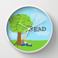 take time to read Wall Clock by studiomarshallarts