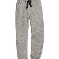 Fleece-Lined Track Pants, Gray