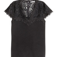 H&M Top with Lace $29.99
