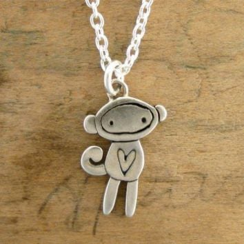 Handmade Gifts | Independent Design | Vintage Goods Sock Monkey Necklace
