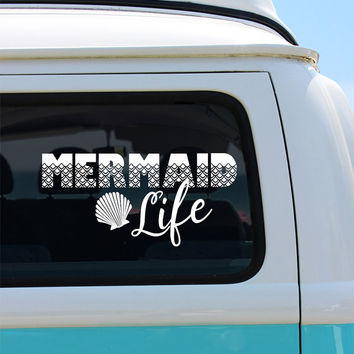 Mermaid Life Vinyl Window Decal - Car Sticker - Car Decal