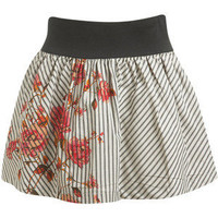 Mitered Stirpe Mini Skirt - Teen Clothing by Wet Seal - Polyvore