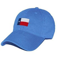 Texas Flag Needlepoint Hat in Royal Blue by Smathers & Branson