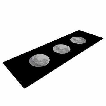 "Jackie Rose ""Lunar OCD"" Black Gray Yoga Mat"