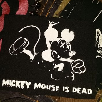 Subhumans- Mickey Mouse Is Dead punk patch
