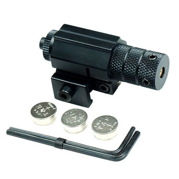 Tactical Hunting Rifle Red Laser Beam Dot Sight Scope for Gun Rifle Pistol Picatinny Mount