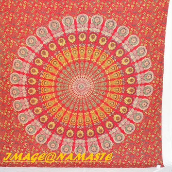 Hippie Hippy Wall Hanging, Indian mandala Tapestry Throw Bed spread, Dorm Tapestry, Bohemian Tapestry,Queen Vintage Decorative Wall Hanging