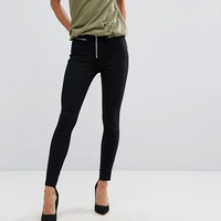 Dr Denim Zam Mid Rise Skinny Jean with Zipper Detail at asos.com