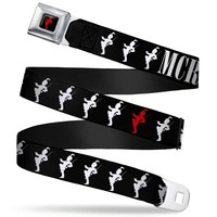 My Chemical Romance Men's  Black Parade Logo Seatbelt Buckle Belt Rockabilia