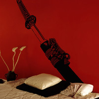 Vinyl Wall Decal Sticker Samurai Sword #5300