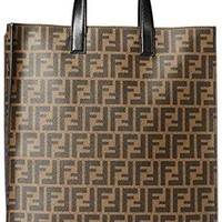 Fendi Men's Tote Bag, Black Cigar