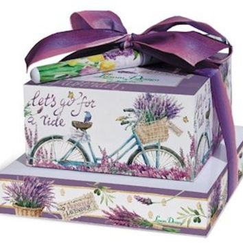 Lavender Bicycle Stacked Notes