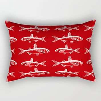 Ruby Fish Rectangular Pillow by The Wallpaper Files