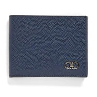 Ultramarine Pebble Leather Wallet by Ferragamo