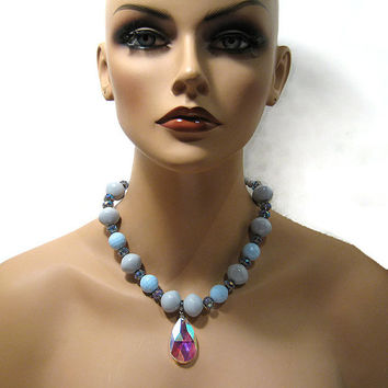 Large Chunky Fashion Necklaces Handmade Chunky Statement