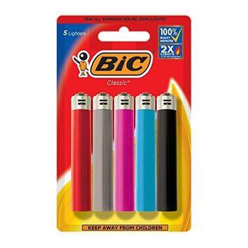 BIC Lighters (Colors May Vary), 5 Pack Best Selling Bic, Flick Your Bic!