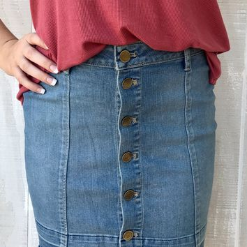 "Articles of Society ""Alice Skirt"" - Light Denim"