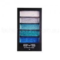 BYS Glitter Eye Creme Palette (Heavy Metal Blues)