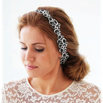 Bridal headband, wedding hair accessory, bridesmaid headband, Grecian headband, Party headband