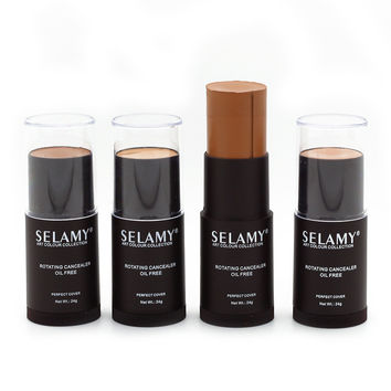 Selamy 8 Colors Face Makeup Concealer Stick Long-wearing Waterproof Corrector Highlighter Cream Concealer Pencil