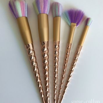 Gold Unicorn Brushes