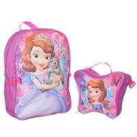 "Sofia the First ""Enchanted Butterfly"" Backpack with Lunchbox - purple, one size"